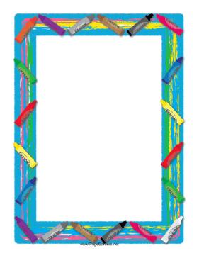 Crayon Border Template