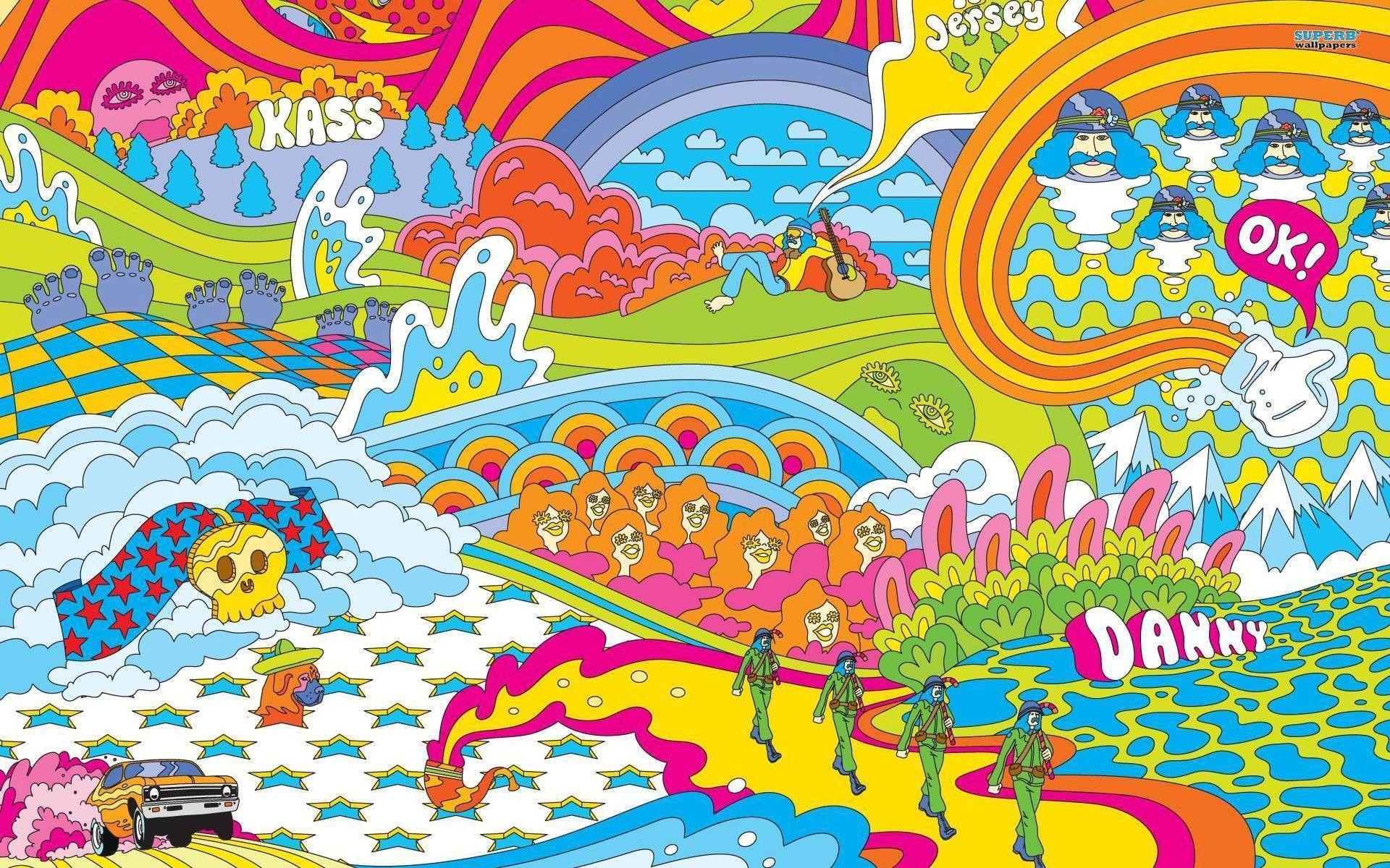 60s Hippie Wallpaper