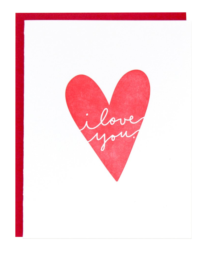 I Love You Heart Cards