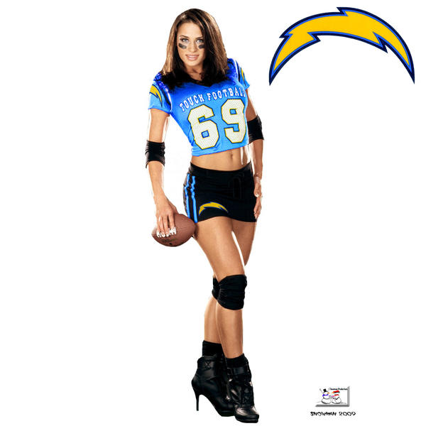 San Diego Chargers Girls Wallpaper