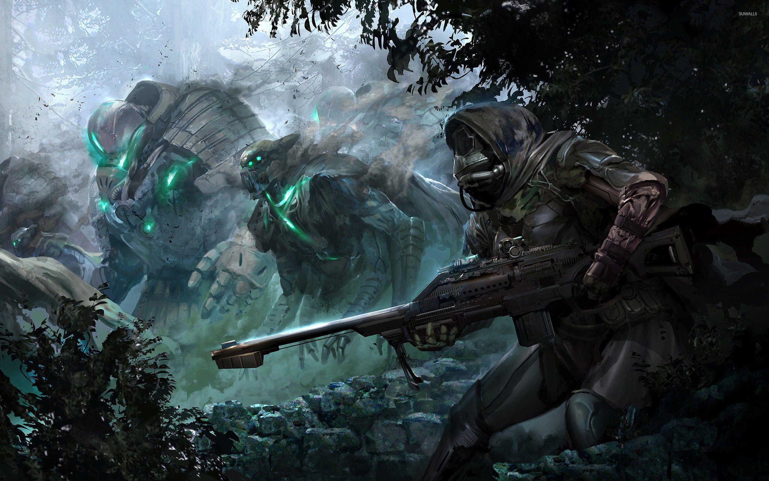 Hunter Destiny 2 Wallpaper 1080P