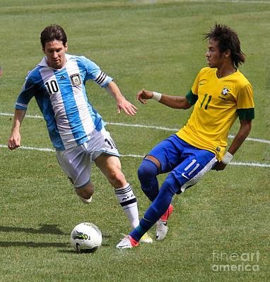 Messi Kicking the Ball
