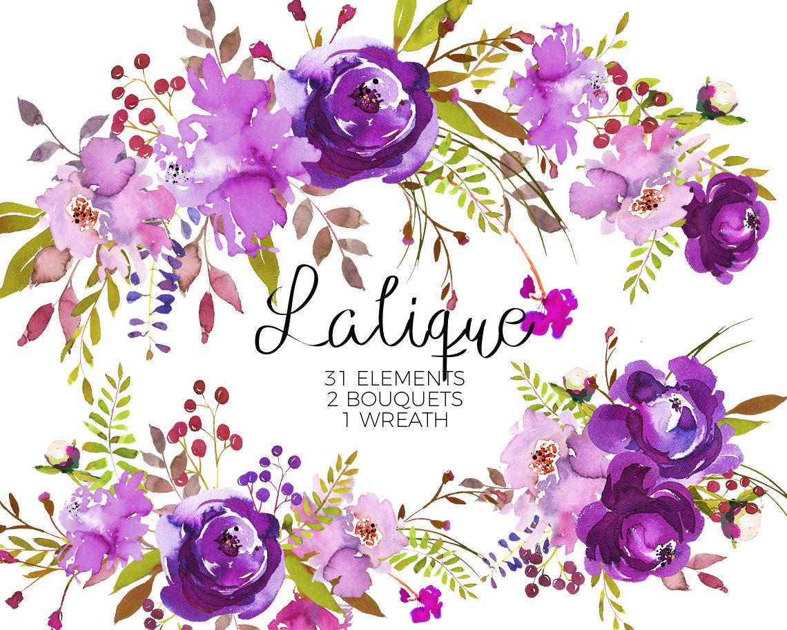Purple Flower Graphics