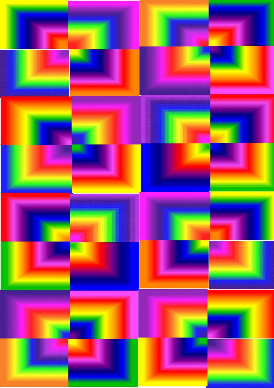 Rainbow Checkered Wallpaper
