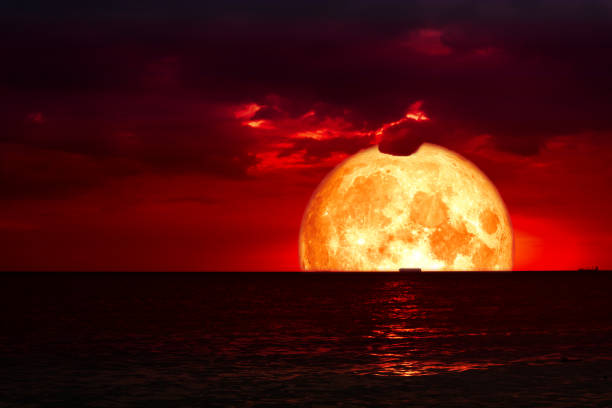 Red Moon Silhouette