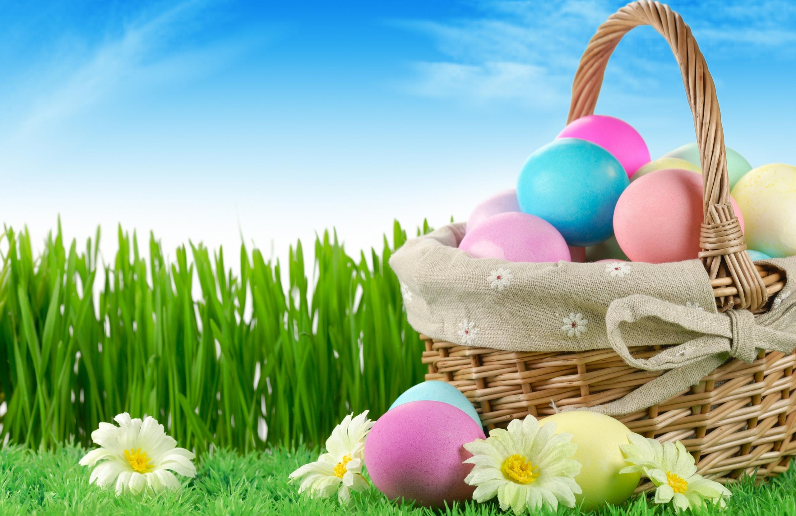 Easter Basket Desktop Wallpaper