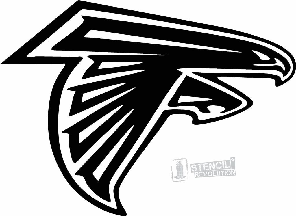 Atlanta Falcons Logo Stencil