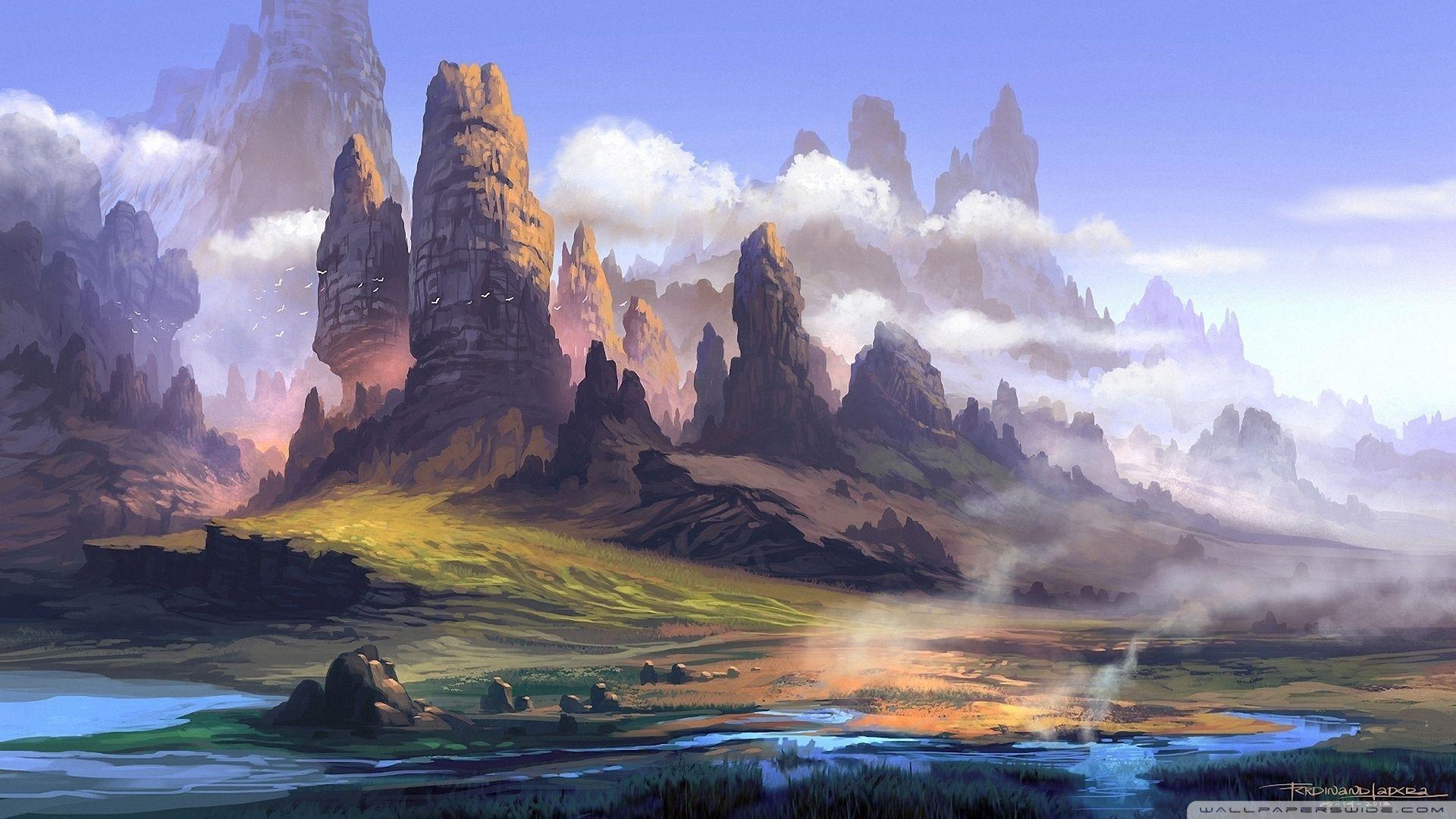 Landscape Painting Wallpaper