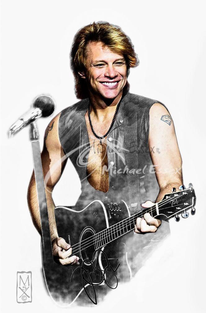 Bon Jovi Cartoon