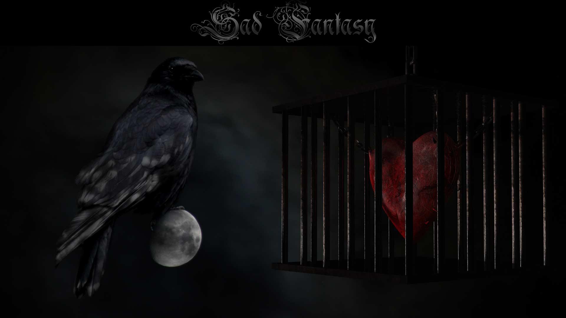 Gothic Crow Wallpaper
