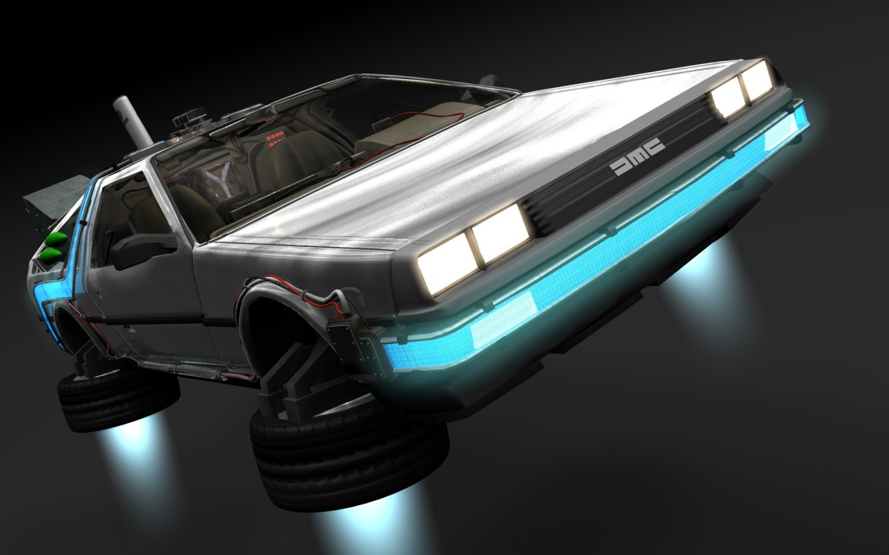 HD DeLorean Wallpaper