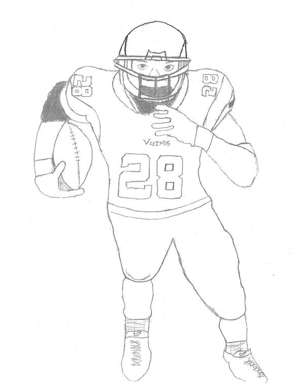Adrian Peterson Drawing