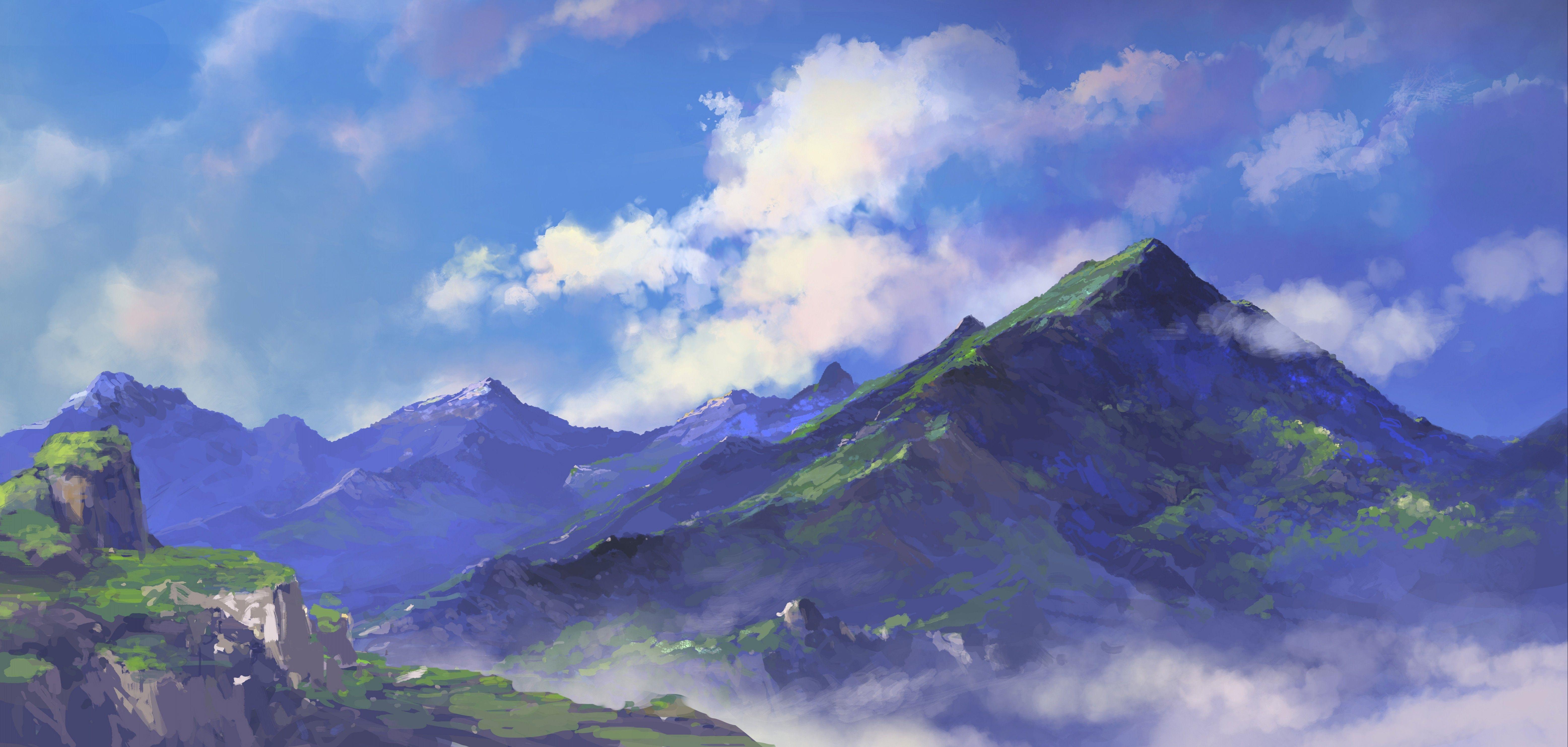 Anime Mountain Background