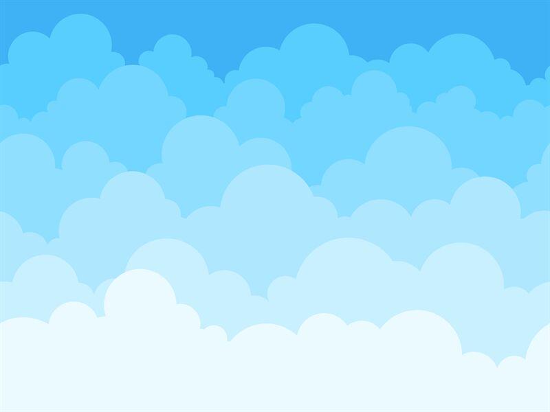Cartoon Sky with Clouds
