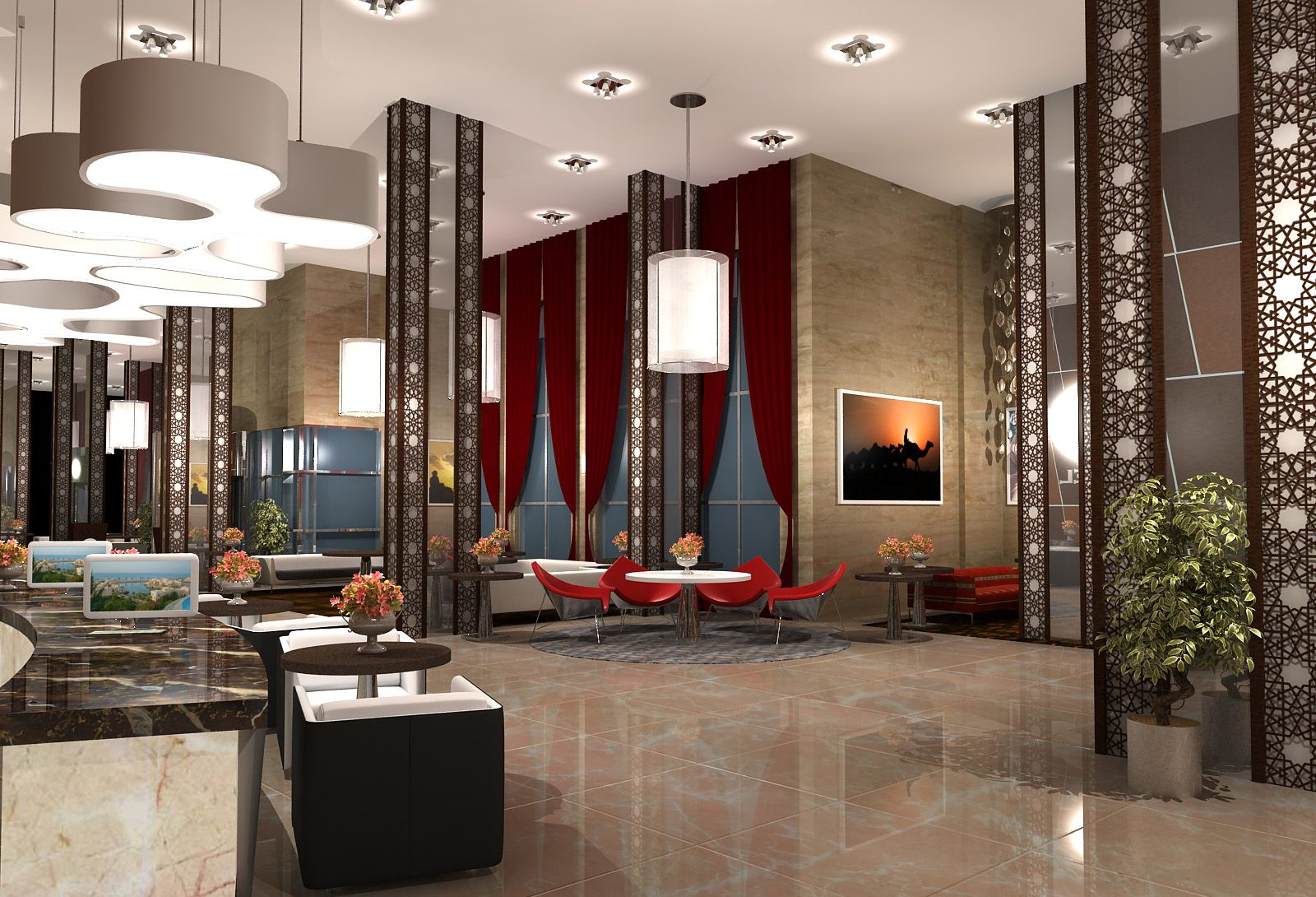 Beautiful Hotel Lobby