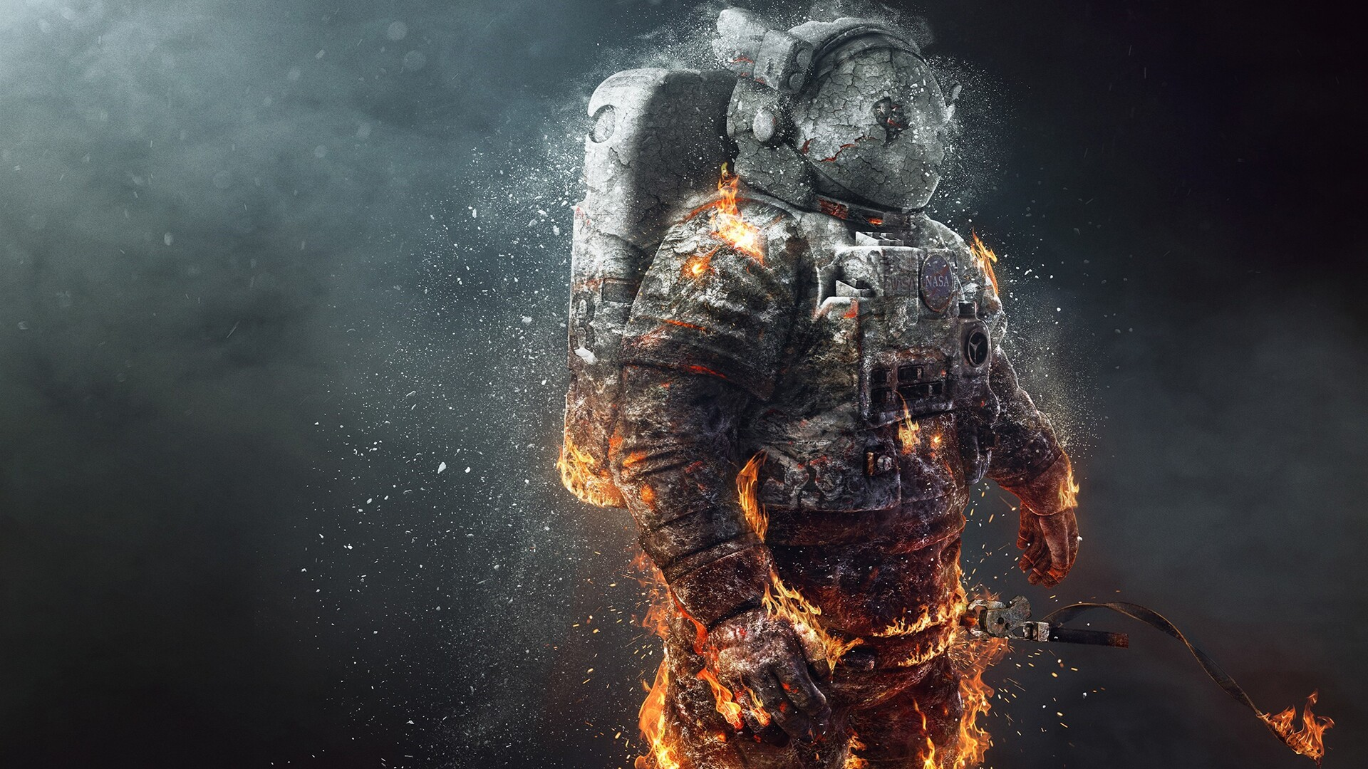 Funny Astronaut Wallpaper