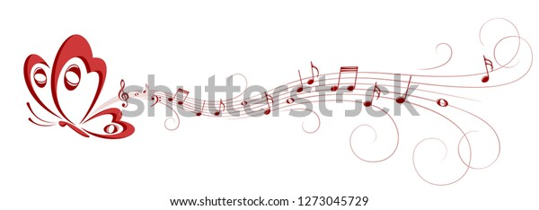 Butterfly with Music Notes