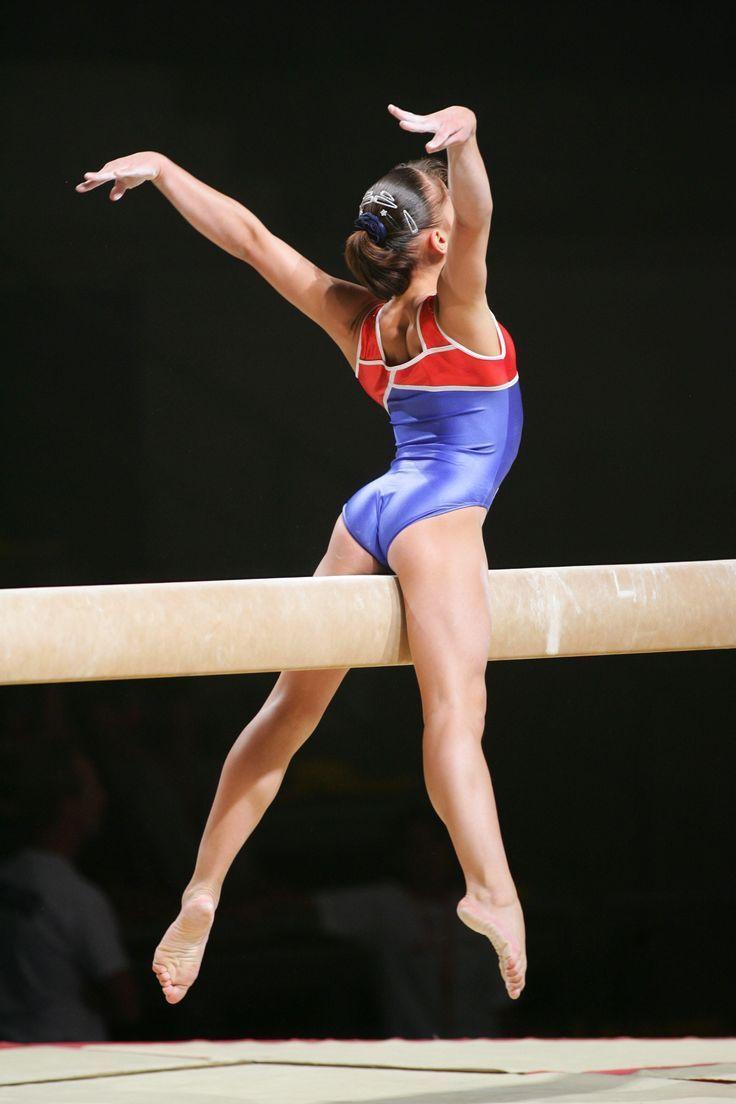 Hot Gymnastics Balance Beam