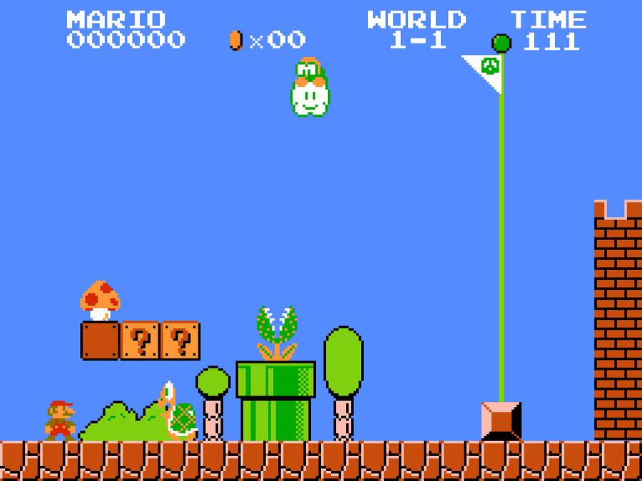 Super Mario 8 Bit Wallpaper