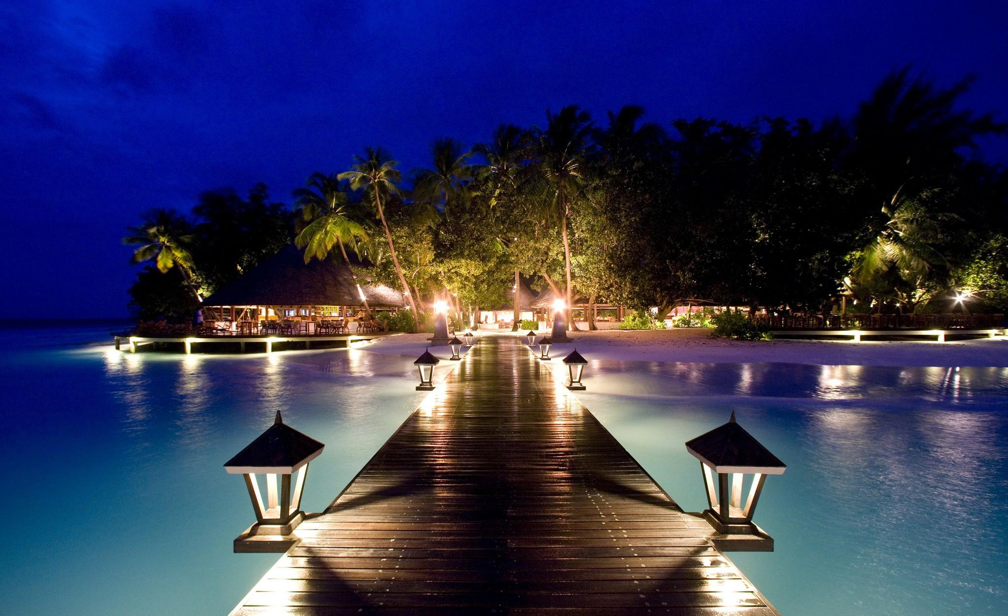 Romantic Beach at Night
