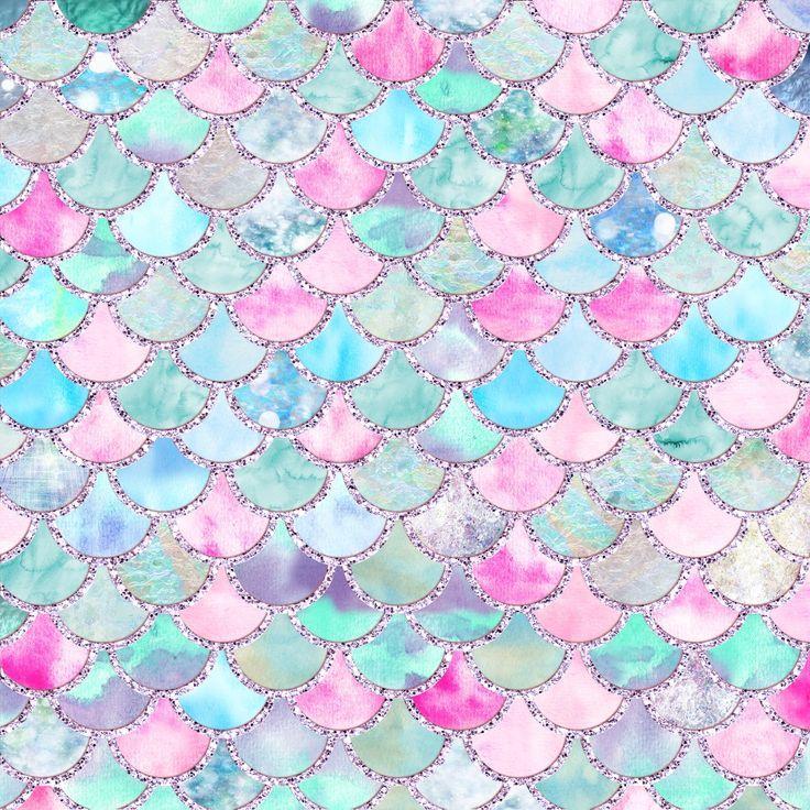 Cute Mermaid Scale Wallpaper