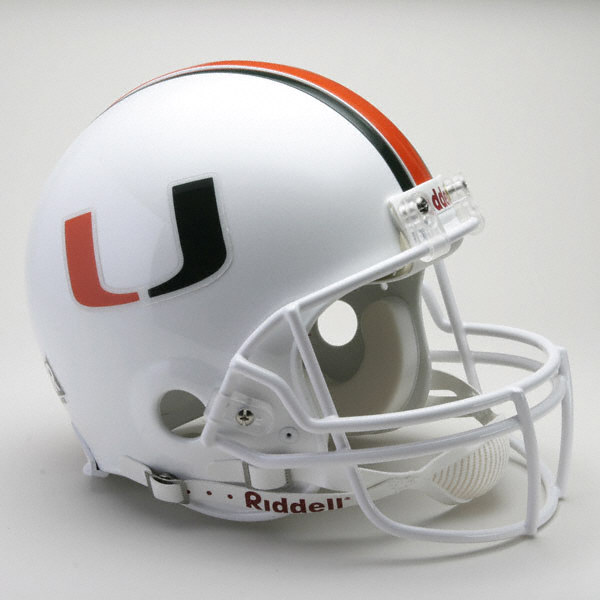 Miami Hurricanes Football Helmet