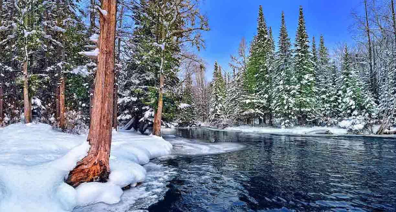 Lake Michigan Winter Wallpaper