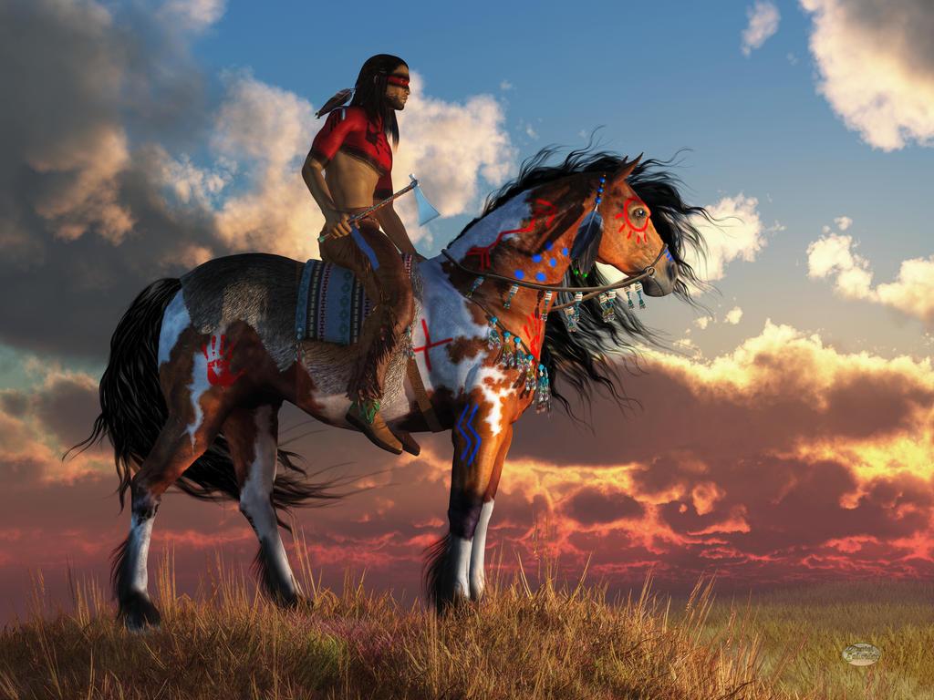 Horse Native American Art Wallpapers
