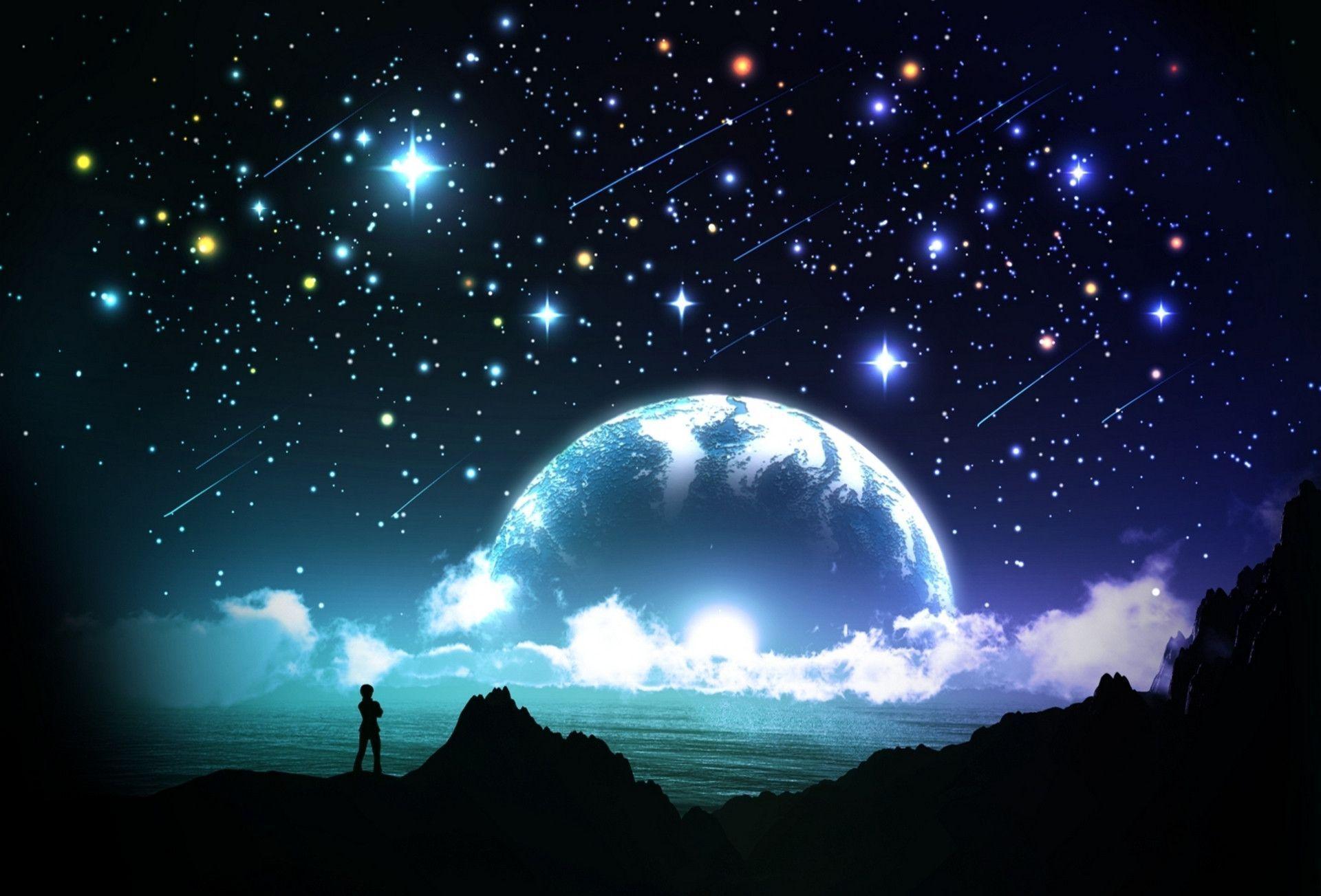 Pretty Night Sky Wallpaper