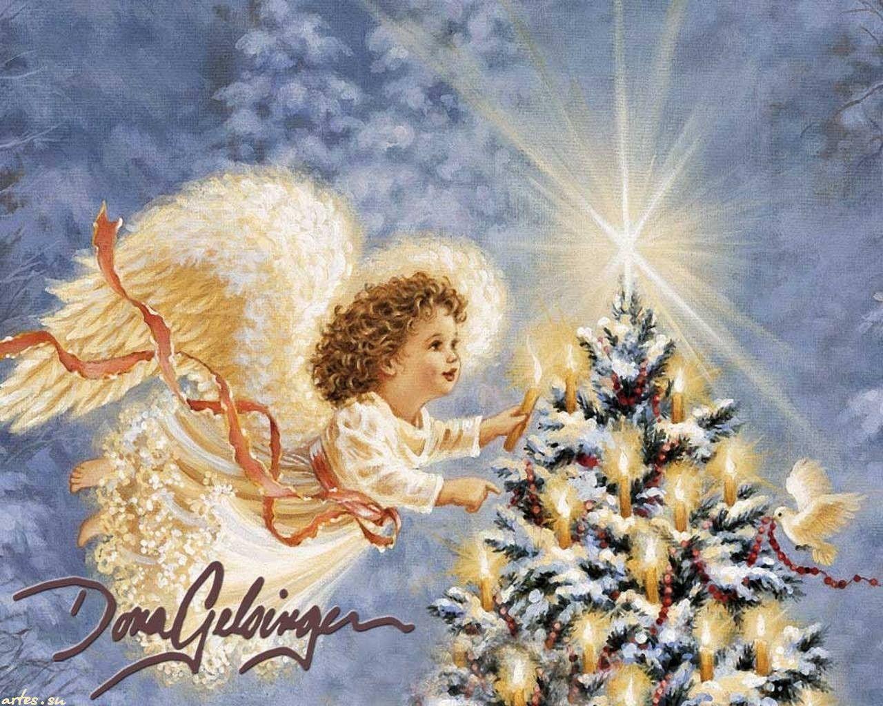 Christmas Angel Desktop