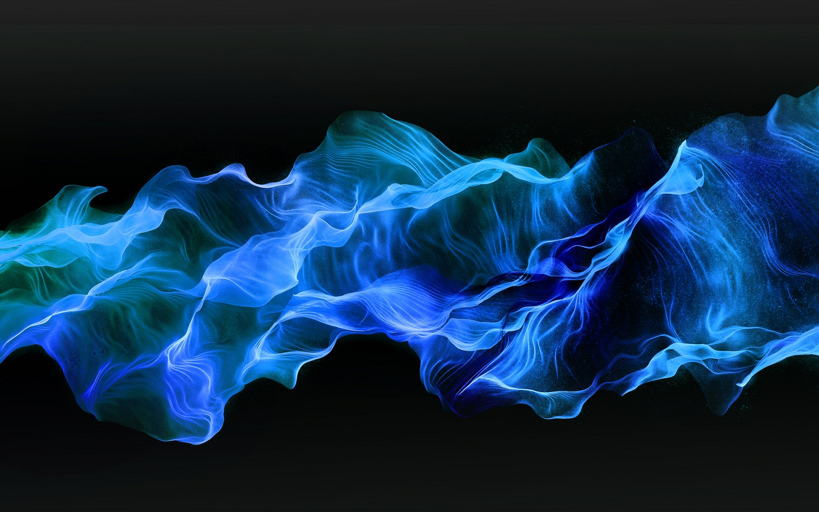 Abstract Blue Fire