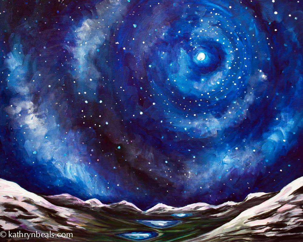 Starry Night Sky Painting