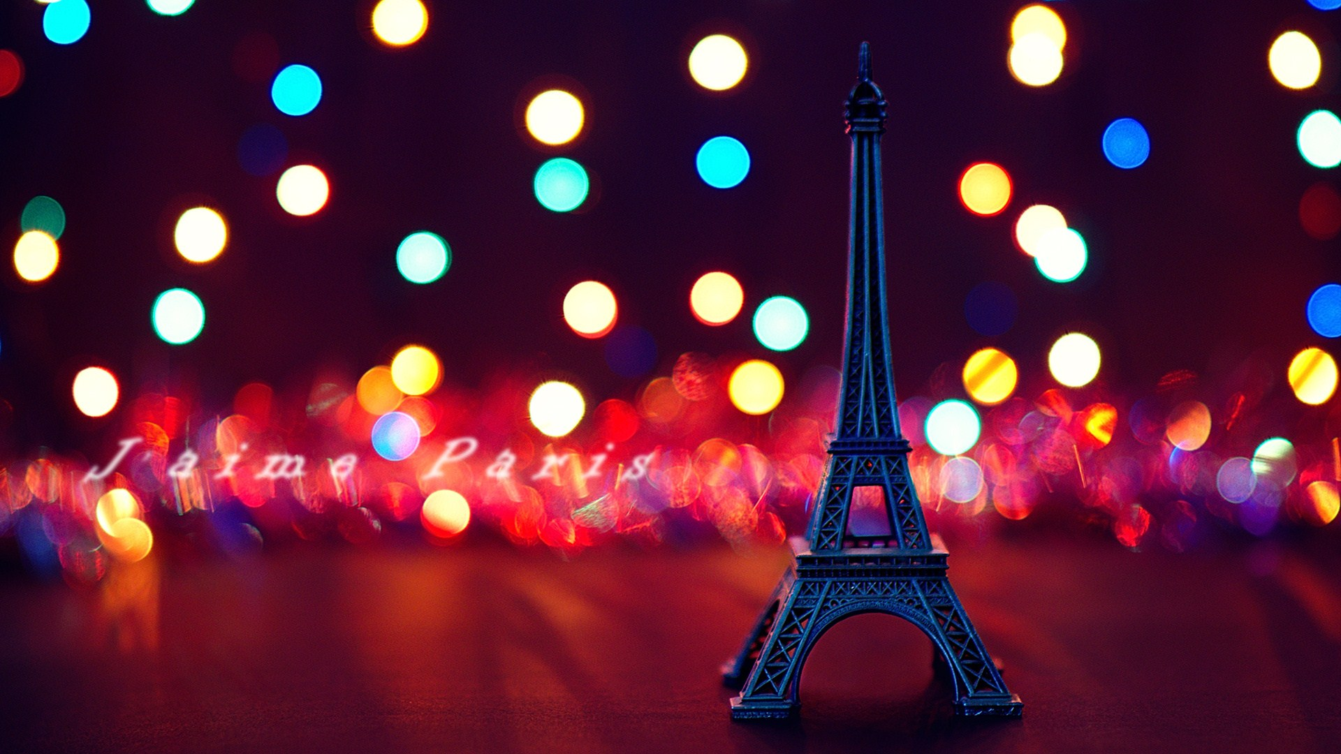 Colorful Eiffel Tower Wallpaper
