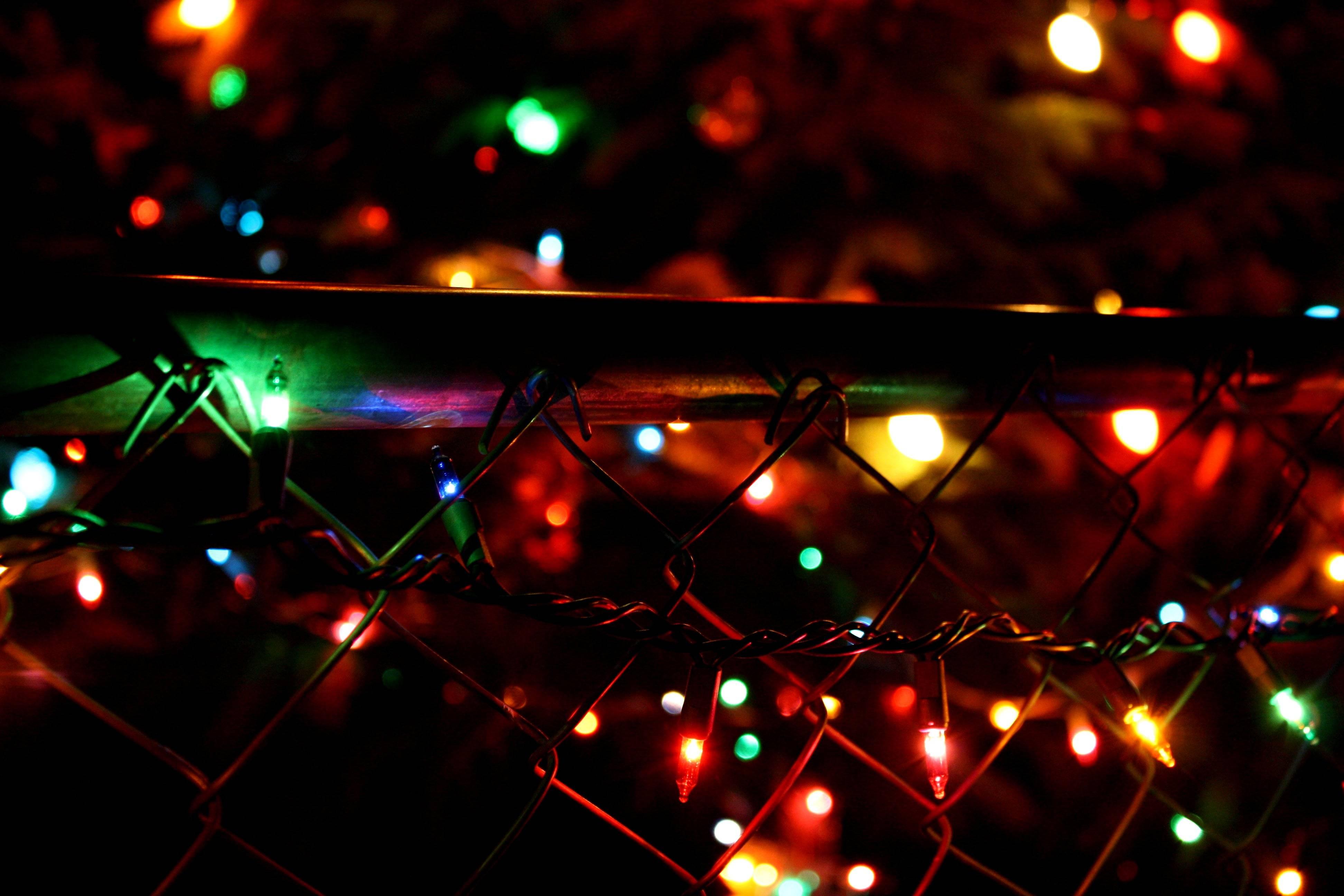 Christmas Lights Decorations Desktop Wallpaper