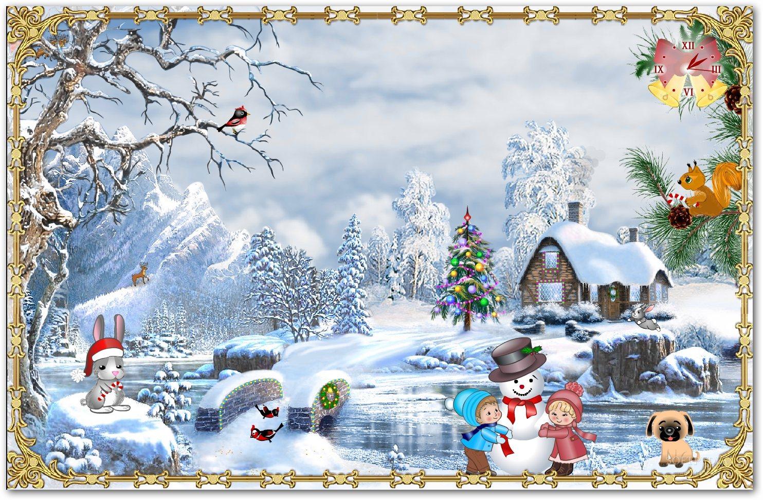 Google Christmas Desktop Wallpaper