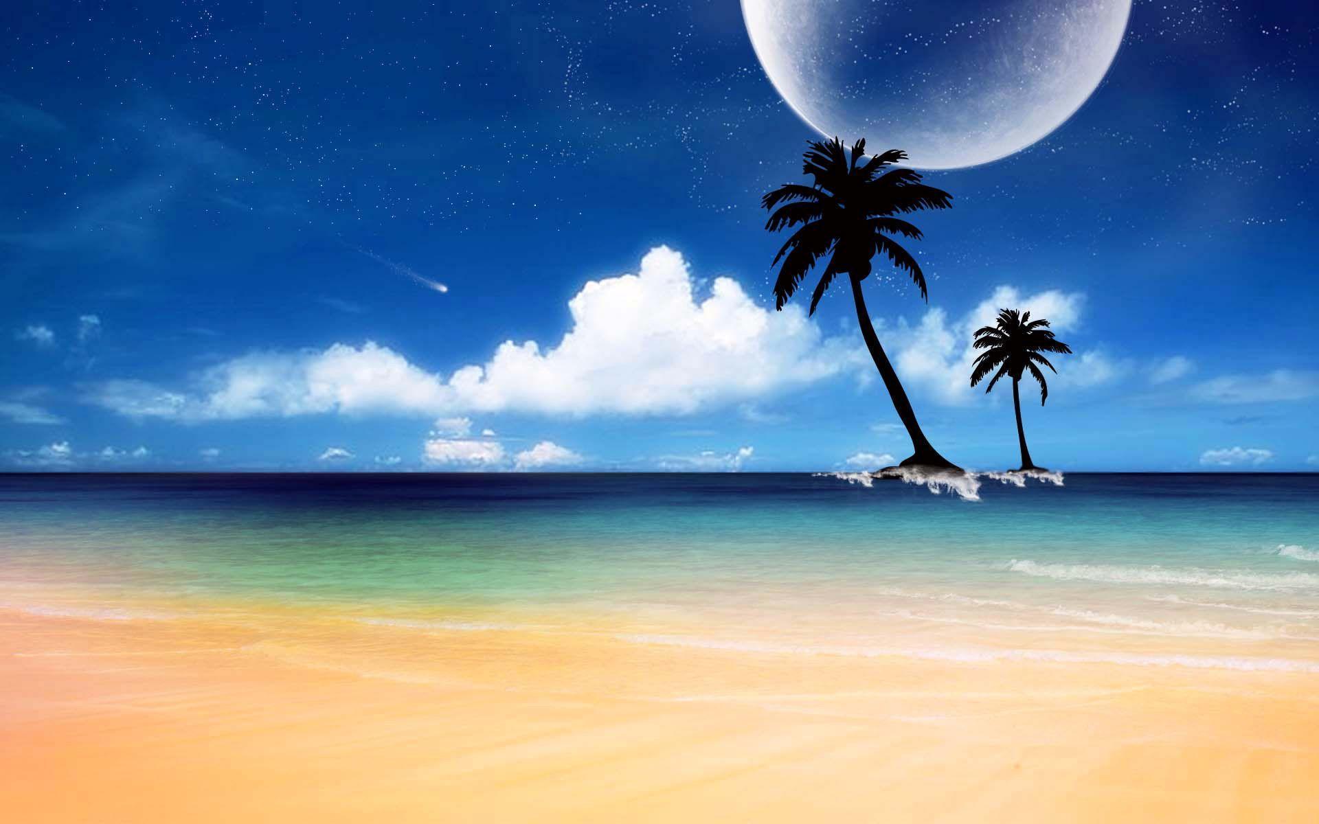 Sunny Beaches Desktop Wallpaper