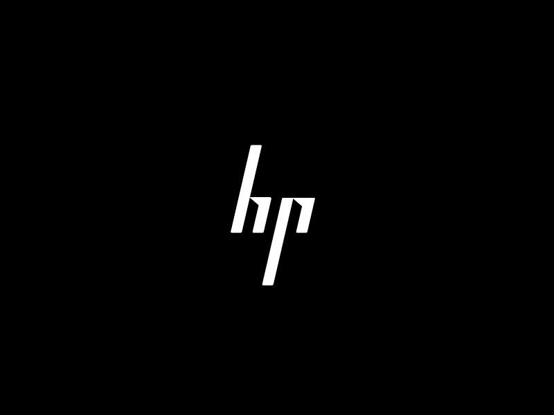 HP Logo Black
