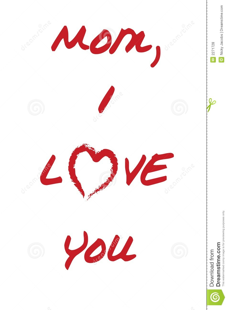 I Love You Mom Mother%27s Day