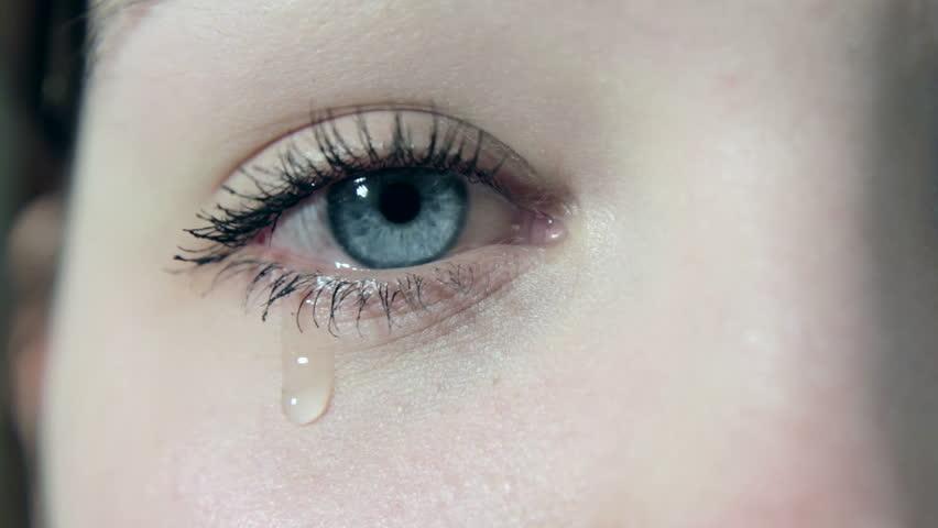 Sad Eyes with Tears