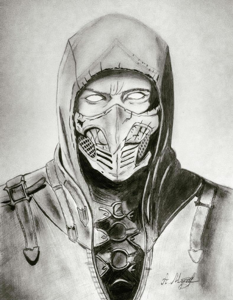 MKX Scorpion Drawing