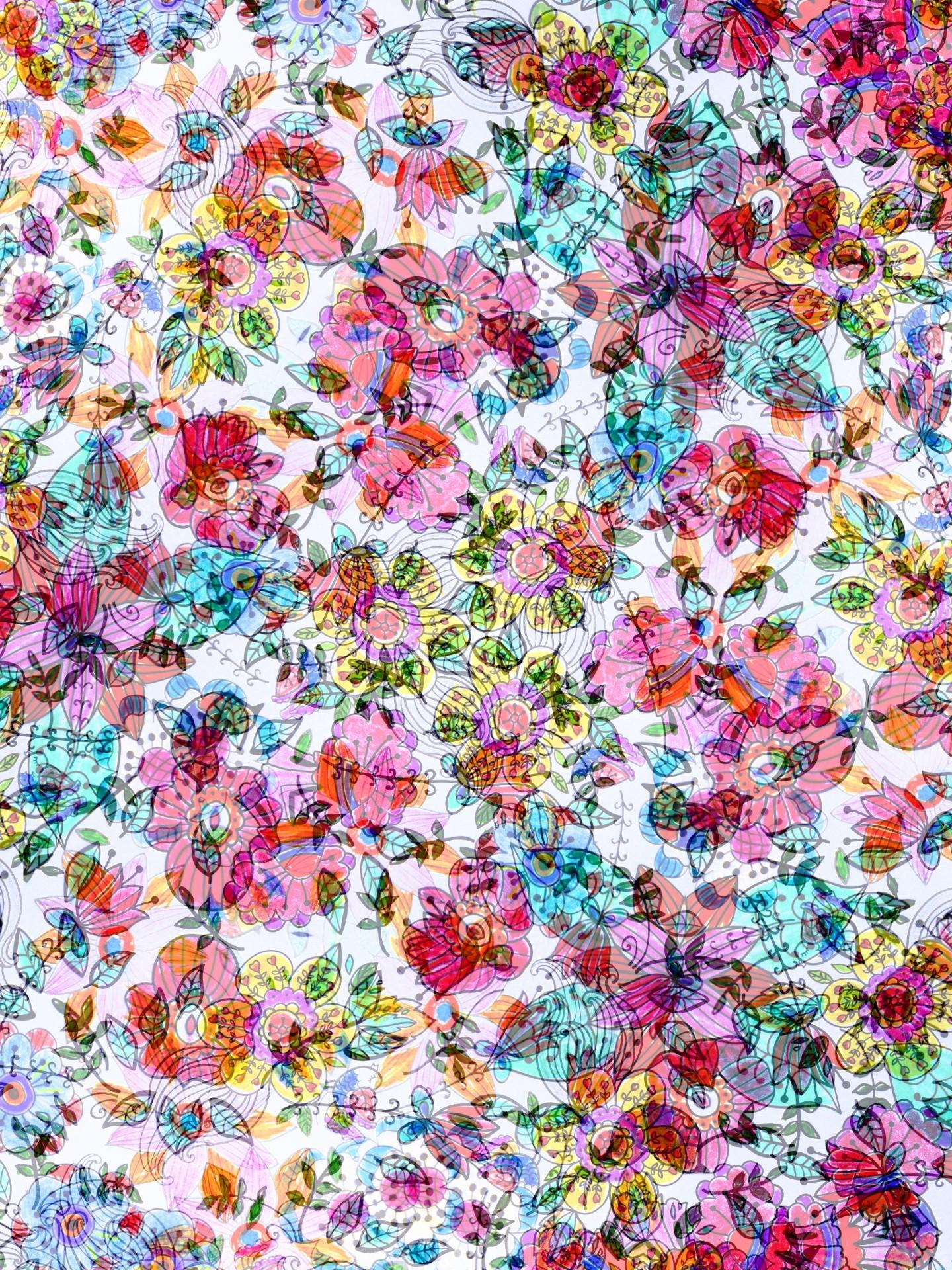 Vintage Floral Laptop Wallpaper
