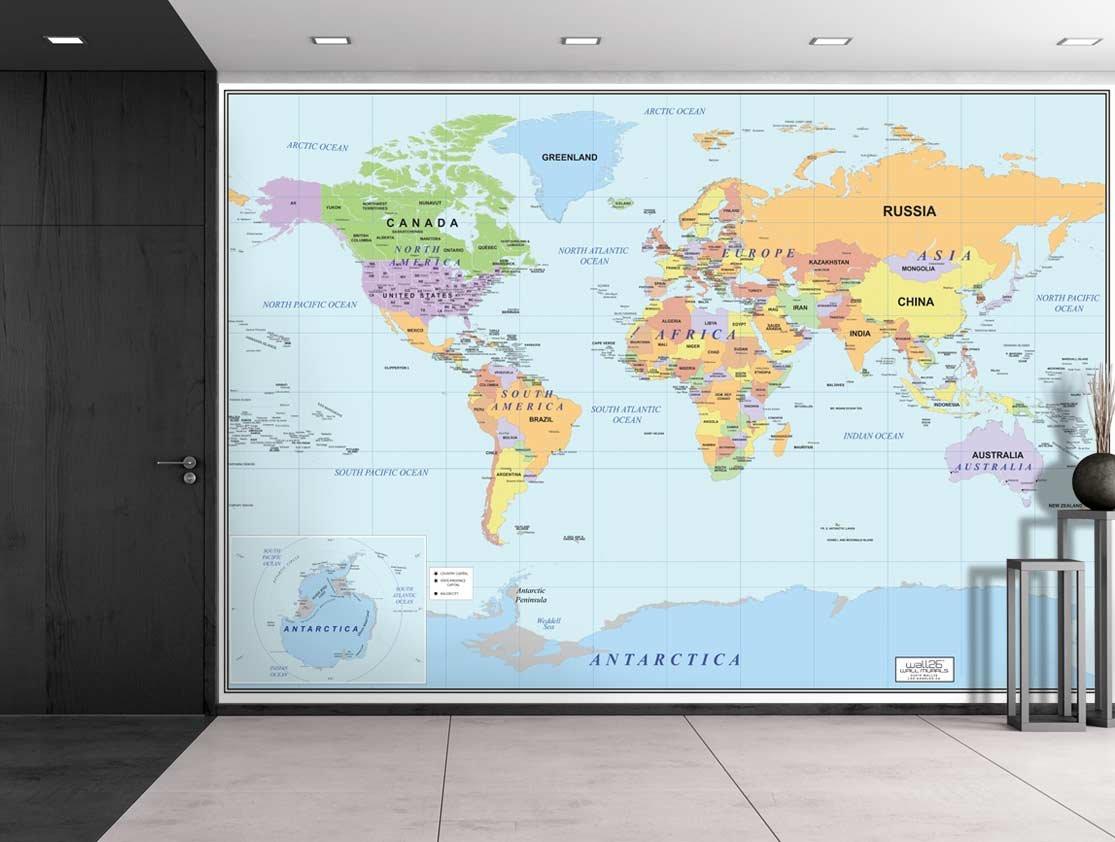 World Map Wallpaper for Home