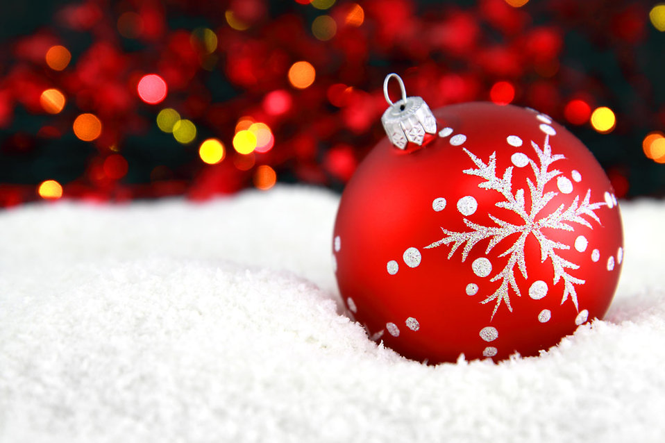 Christmas Ornament Background Free