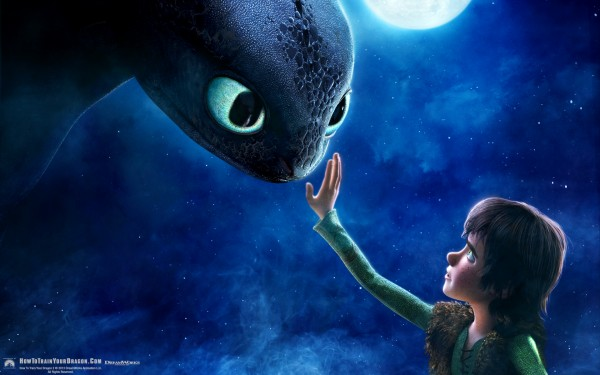 Hiccup and Toothless Wallpaper