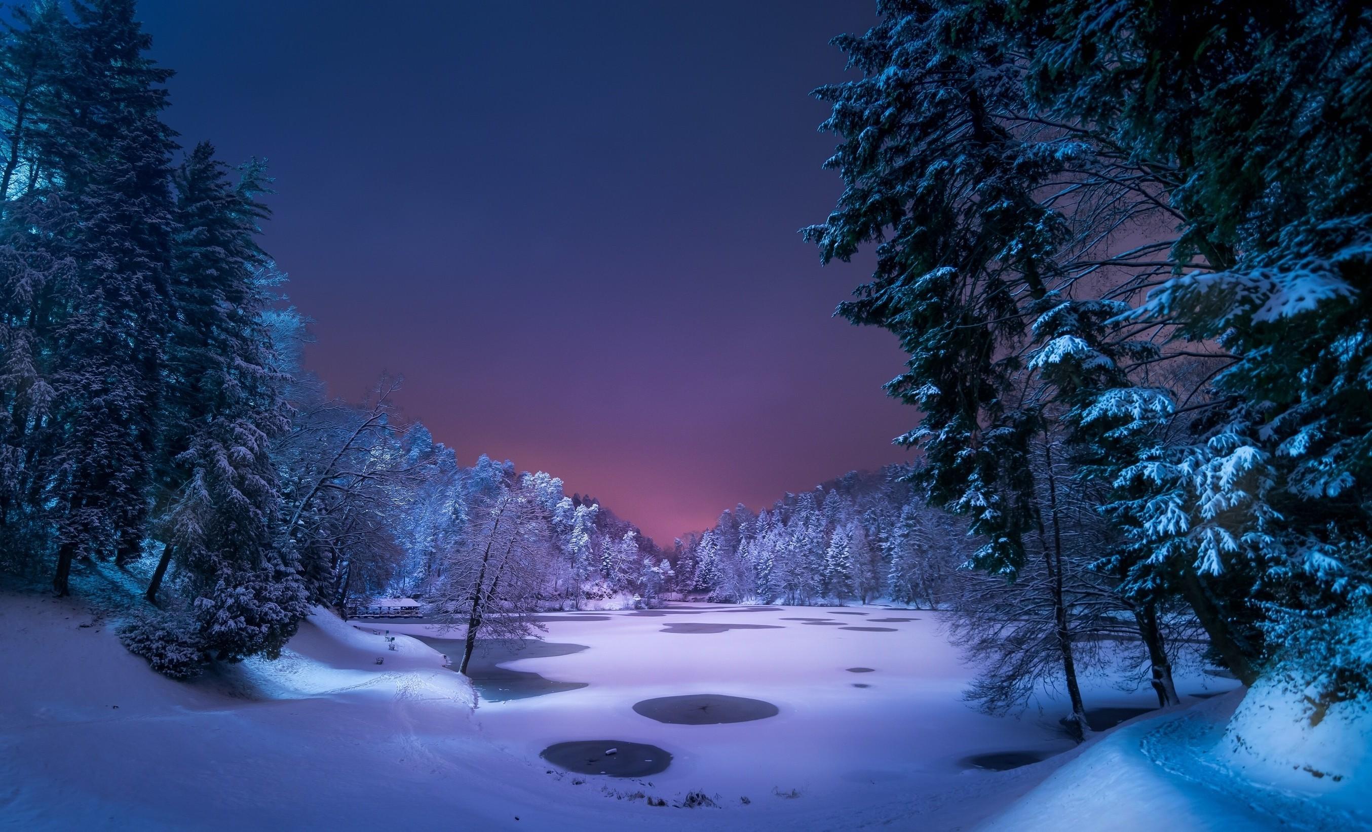 Snowy Winter Desktop Wallpaper