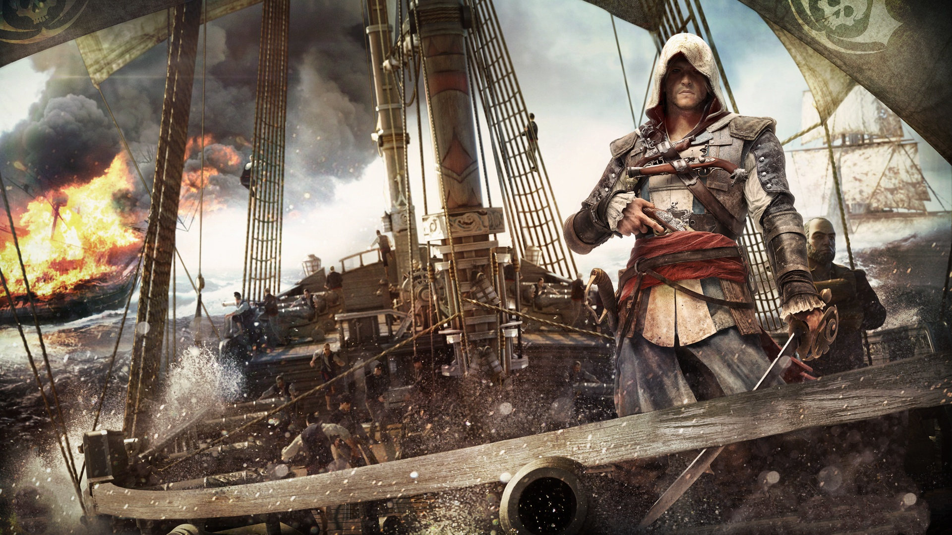 Wallpaper assassins creed black flag background full hd pic download voltagebd Image collections