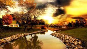 Autumn River Background Free Download