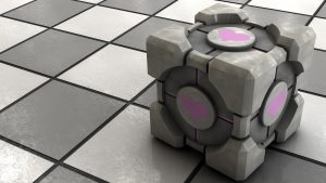 Free Download Companion Cube Wallpaper