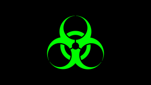 Biohazard and Bioactive Warning Symbols in Bright Colours