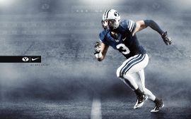 BYU Cougars (Brigham Young University) Football Team Creative Designs as Wallpapers